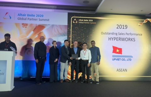UPVIET was honored to receive the Altair Engineering ASEAN Sales Excellence Award in 2019